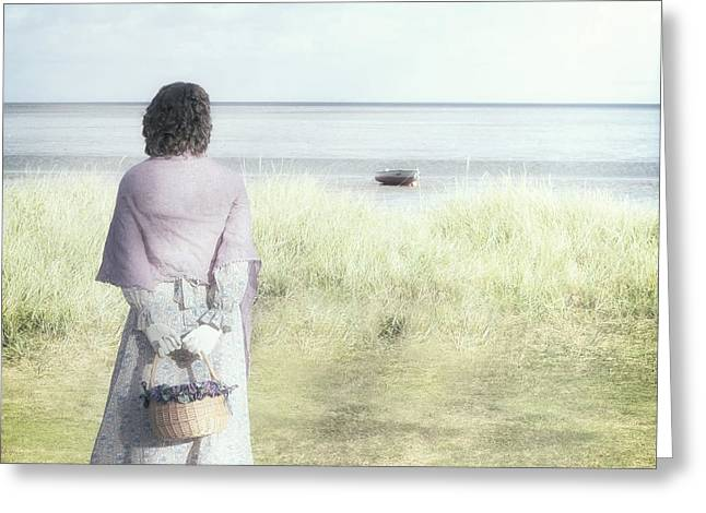 A Woman And The Sea Greeting Card by Joana Kruse