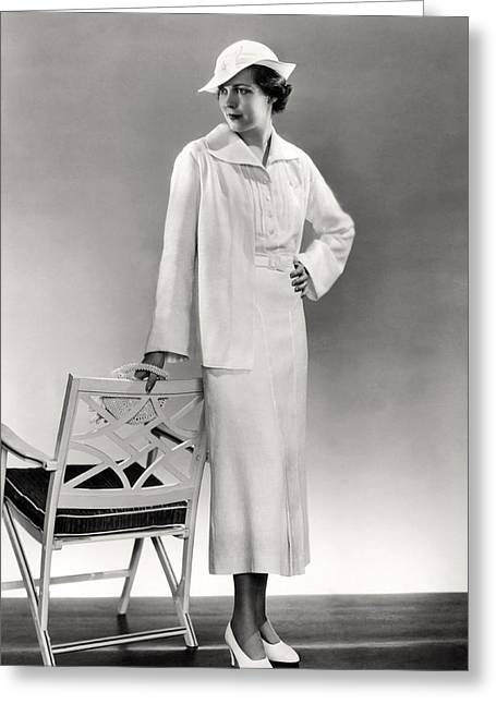 A Woman In 1930's Fashion Greeting Card by Underwood Archives