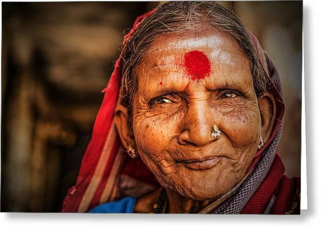 A Woman Of Faith Greeting Card by Valerie Rosen
