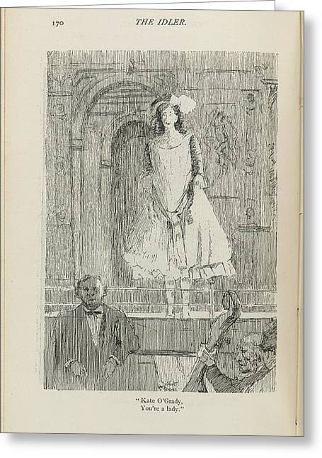 A Woman On A Stage Greeting Card by British Library