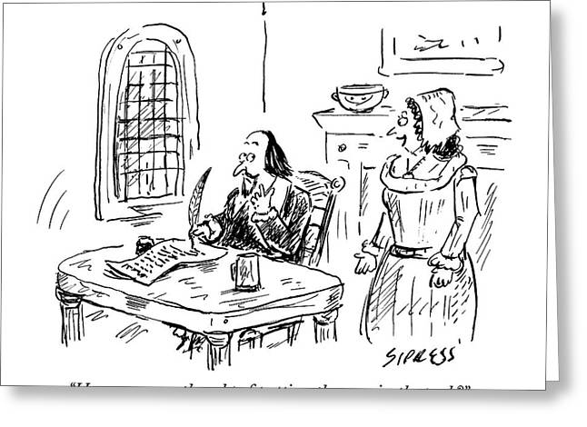A Woman Speaks To Shakespeare Greeting Card