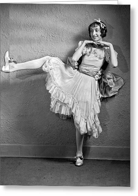A Woman Vaudeville Actor Greeting Card