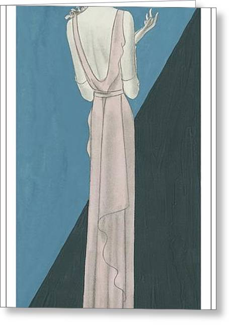 A Woman Wearing A Gown By Mainbocher Greeting Card by Eduardo Garcia Benito