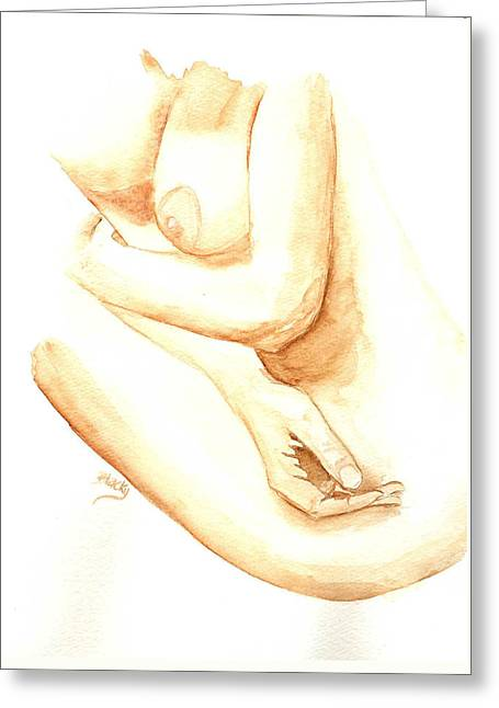 A Woman's Touch Greeting Card by Donna Blackhall