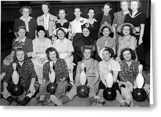 A Women's Bowling Team Greeting Card