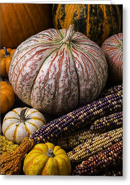 A Wonderful Autumn Harvest Greeting Card by Garry Gay