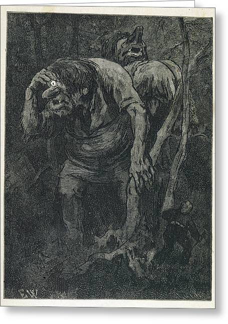 A Woodcutter Keeps Prudently Greeting Card