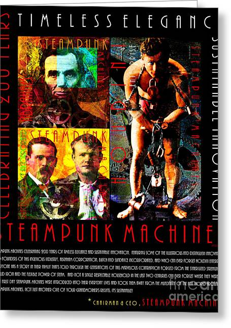 A Word From The Ceo Steampunk Machines Celebrating 200 Years 20140515 Black V2 Greeting Card