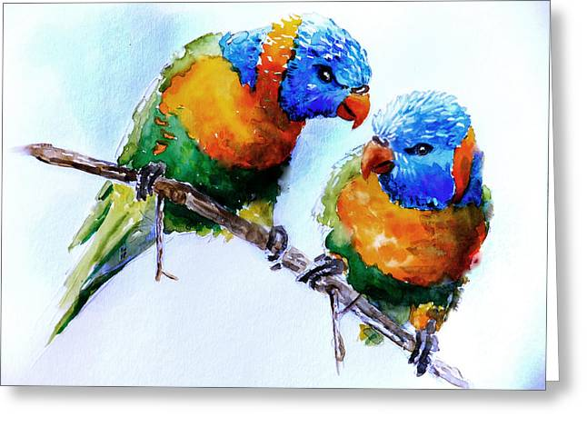 A Word In Your Ear Greeting Card by Steven Ponsford