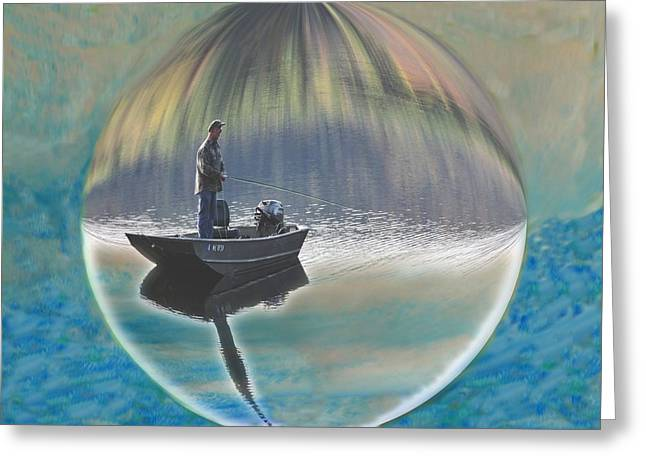 A World Of Good Fishing Greeting Card by Mike Breau