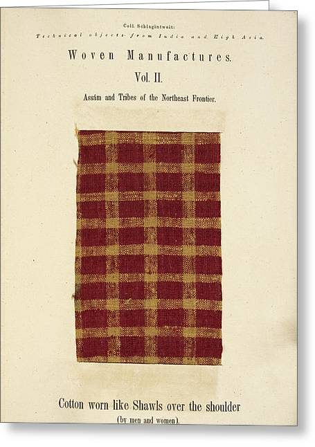 A Woven Piece Of Woollen Cloth Greeting Card by British Library