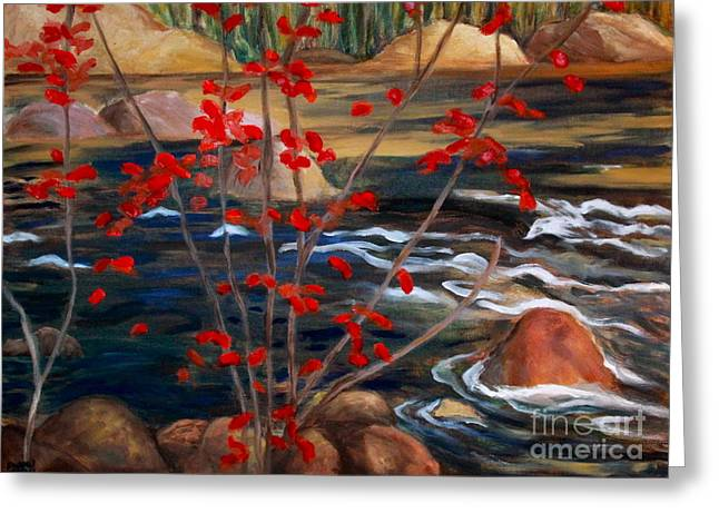 A Y Jackson The Red Maple Inspired Greeting Card by Sherrill McCall