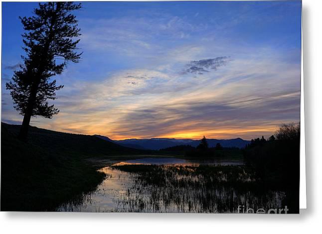 A Yellowstone Lake Before Sunrise Greeting Card