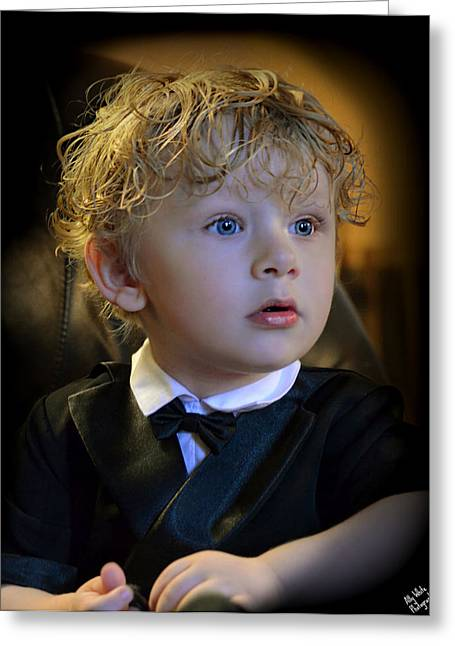 Greeting Card featuring the photograph A Young Gentleman by Ally  White