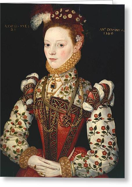 A Young Lady Greeting Card by Celestial Images
