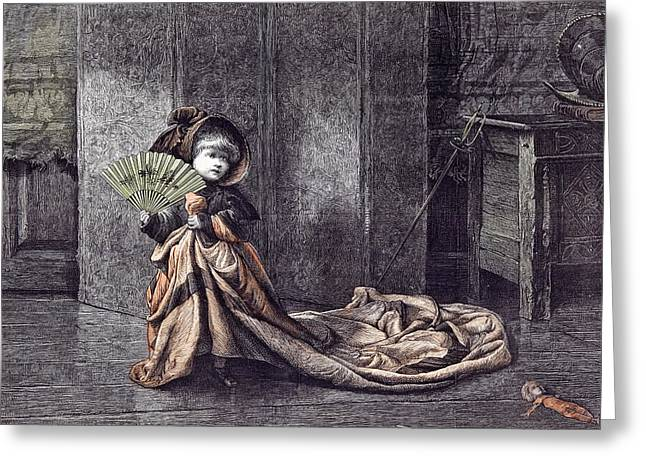 A Young Lady Of Properties C.j Greeting Card by English School