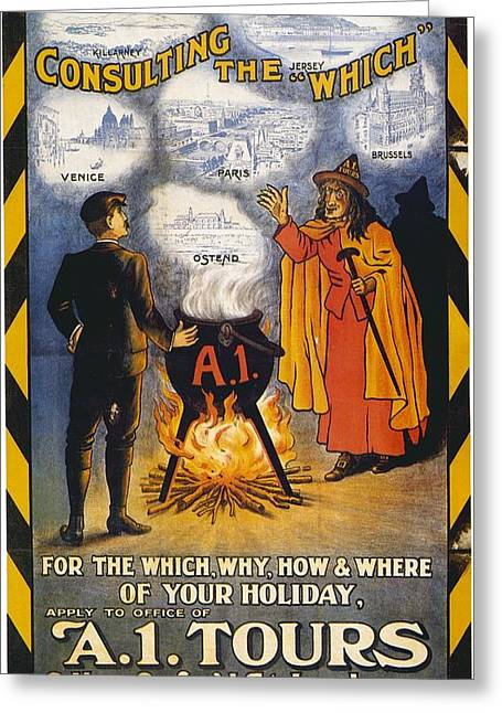 A1 Tours Vintage Travel Poster Greeting Card
