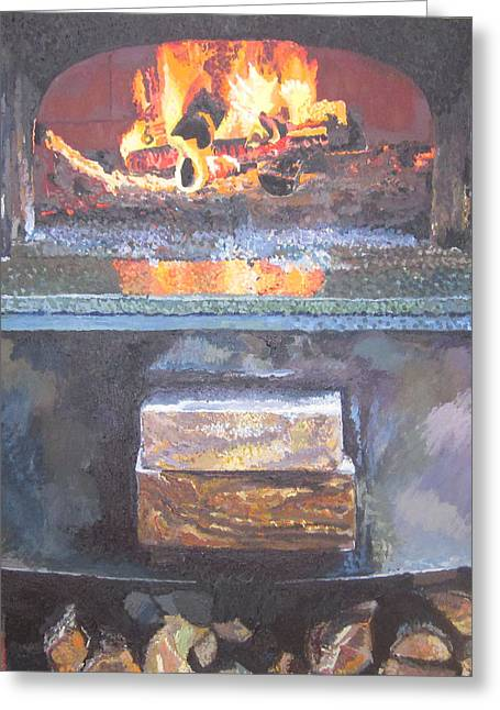 A16 Oven Greeting Card by Kendal Greer