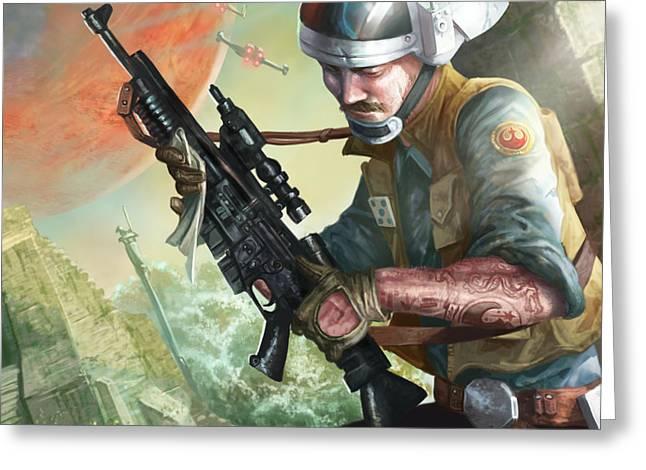 A280 Blaster Rifle  Greeting Card