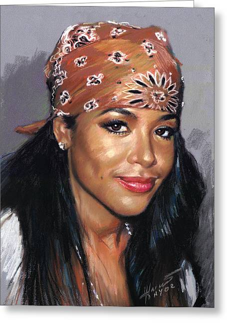 Aaliyah Greeting Card