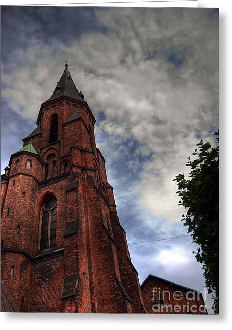 Aarhus Church Hdr 04 Greeting Card by Antony McAulay