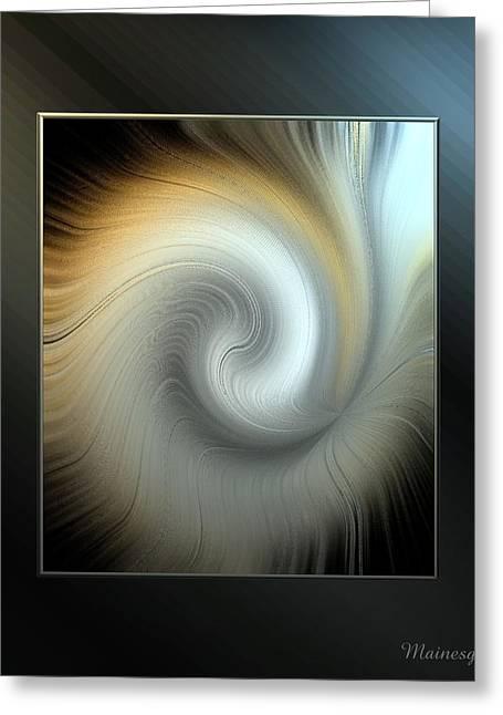 Ab-swirl Greeting Card by Ines Garay-Colomba