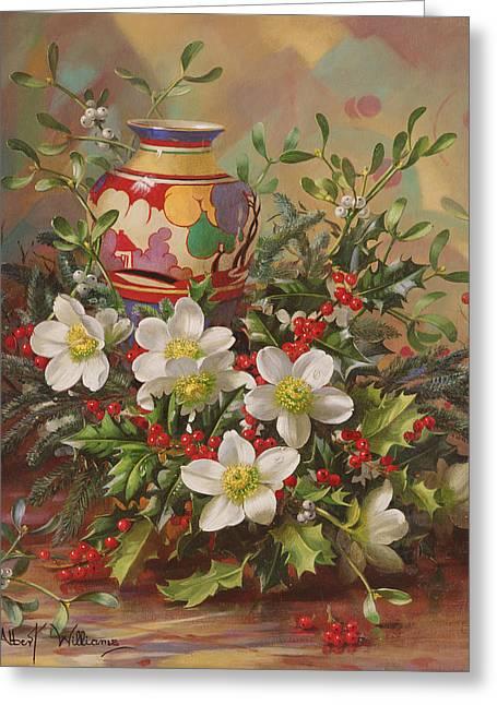 Winter Flowers Greeting Card by Albert Williams