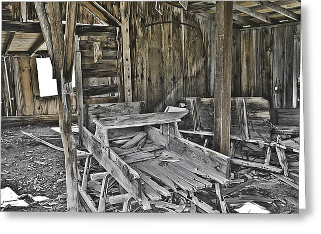 Abandon Barn Greeting Card by Richard Balison
