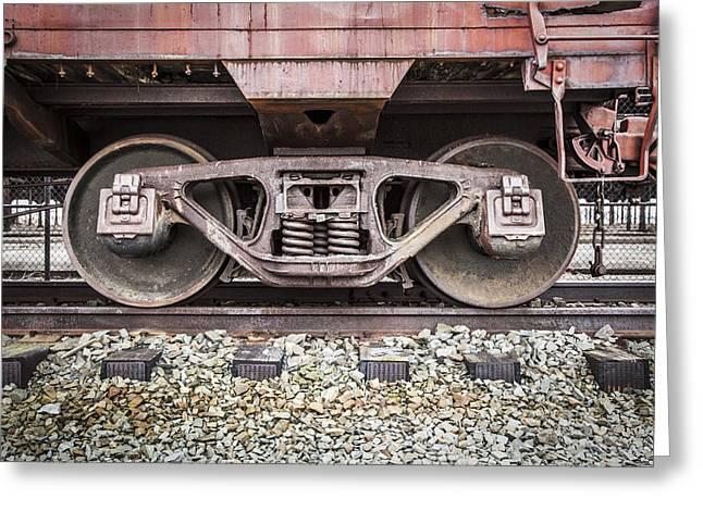 Abandonded Rail Yard Greeting Card by Erin Cadigan