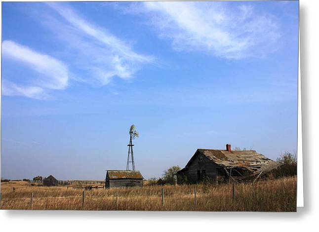 Abandoned Alberta Prairie Home Greeting Card