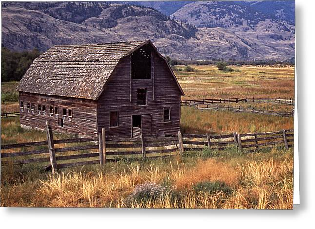 Greeting Card featuring the photograph Abandoned Barn by Richard Farrington