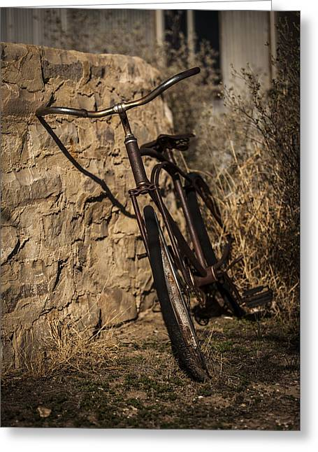 Abandoned Bicycle Greeting Card