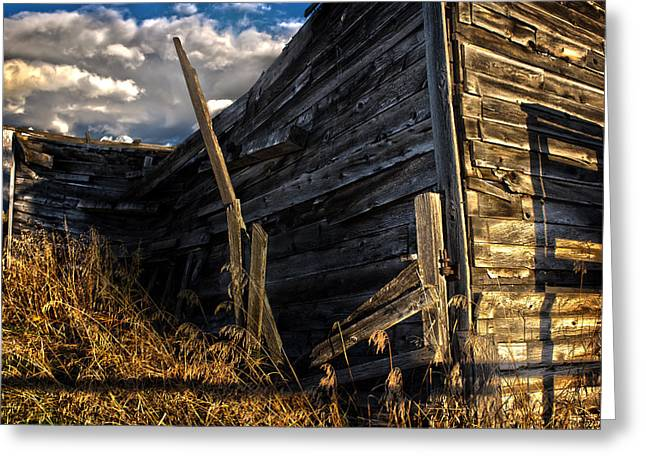 Greeting Card featuring the photograph Abandoned Building Fort Steele by Rob Tullis