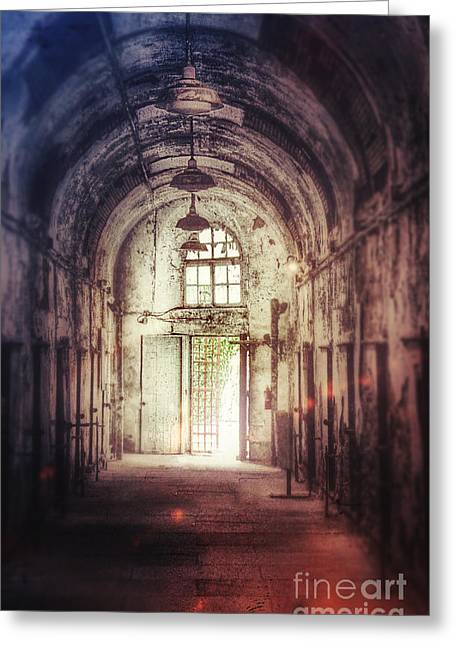 Abandoned Building Interior Greeting Card by Jill Battaglia