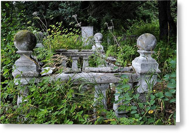 Greeting Card featuring the photograph Abandoned Cemetery 2 by Cathy Mahnke