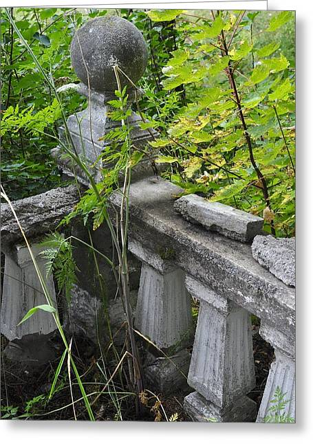 Greeting Card featuring the photograph Abandoned Cemetery by Cathy Mahnke