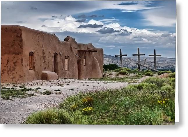 Abandoned Church In Abiquiu New Mexico Greeting Card