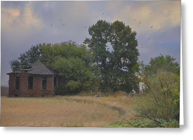 Abandoned Country House In Rural Northwest Iowa Greeting Card