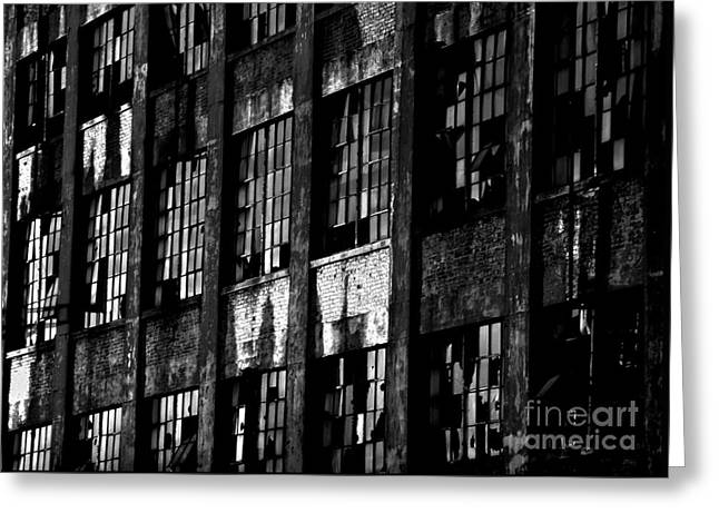 Abandoned Denaturing Plant - Bw Greeting Card