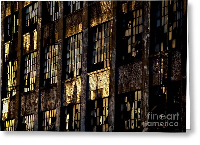 Abandoned Denaturing Plant Greeting Card