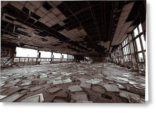 Abandoned Factory Greeting Card by Pedro Nunez