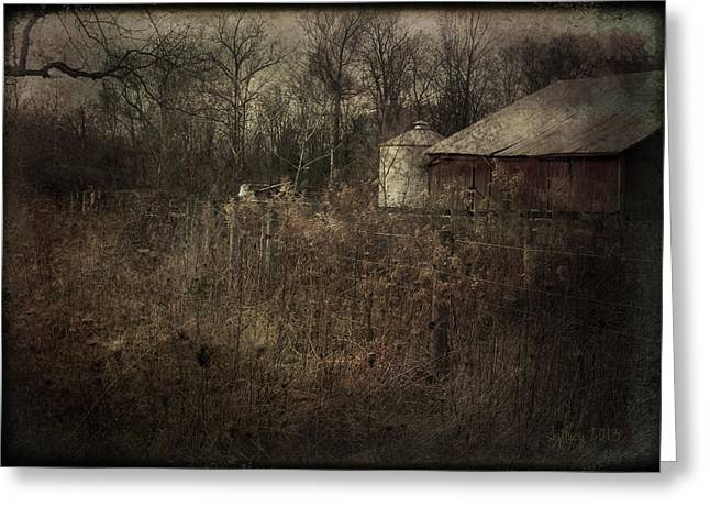Greeting Card featuring the photograph Abandoned Farm by Cynthia Lassiter