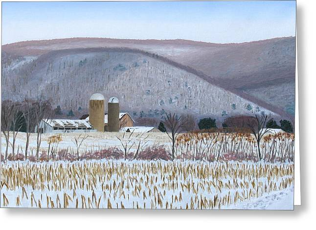 Abandoned Farm In The Mountain's Shadow Greeting Card