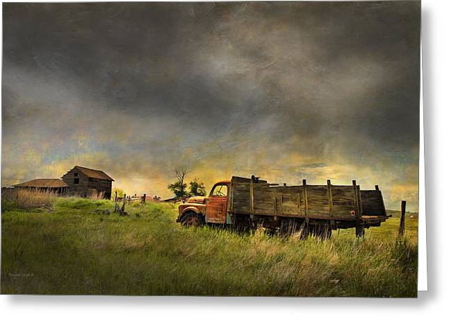Abandoned Farm Truck Greeting Card by Theresa Tahara