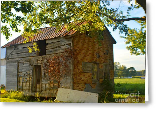 Abandoned Farmhouse 2014 Greeting Card by Tina M Wenger