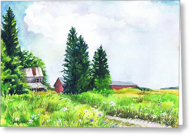 Abandoned Farmhouse Greeting Card by Susan Herbst