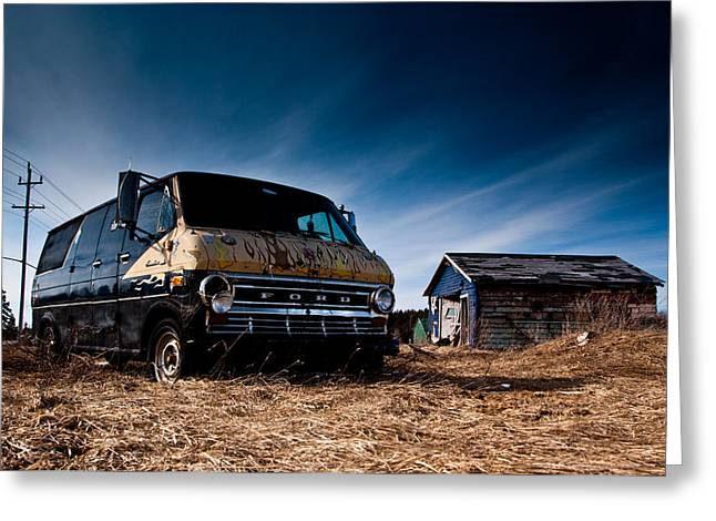Abandoned Ford Van Greeting Card by Cale Best