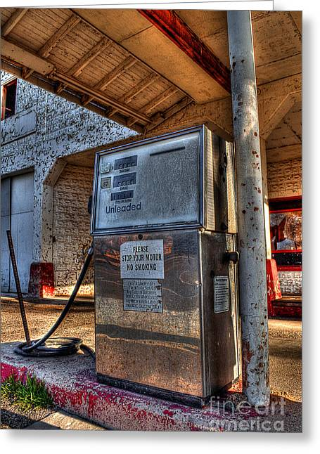 Abandoned Gas Pump  Greeting Card