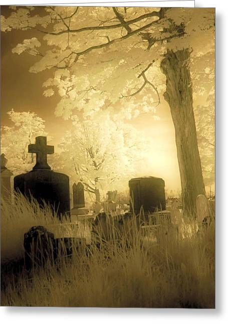 Abandoned Graveyard Greeting Card by Gothicrow Images