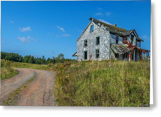 Abandoned Home Greeting Card by Ken Morris